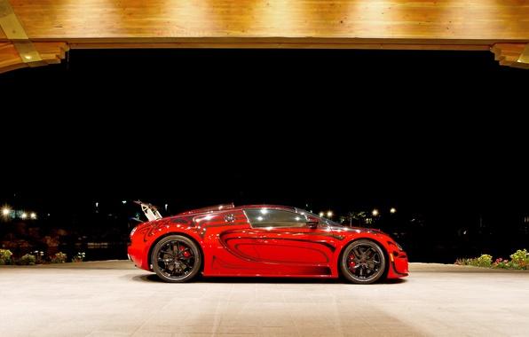 Картинка красный, Bugatti, Veyron, Bugatti Veyron, гиперкар