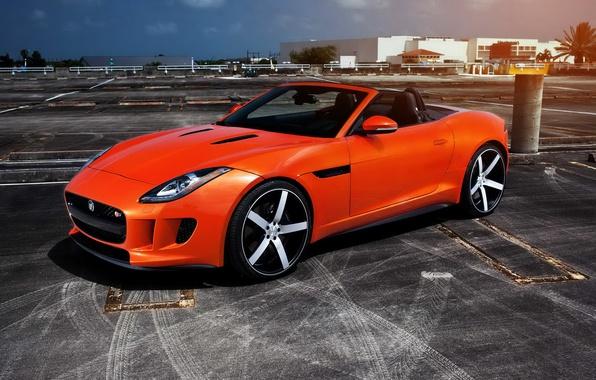 Картинка car, авто, тюнинг, ягуар, родстер, auto wallpaper, Jaguar F Type