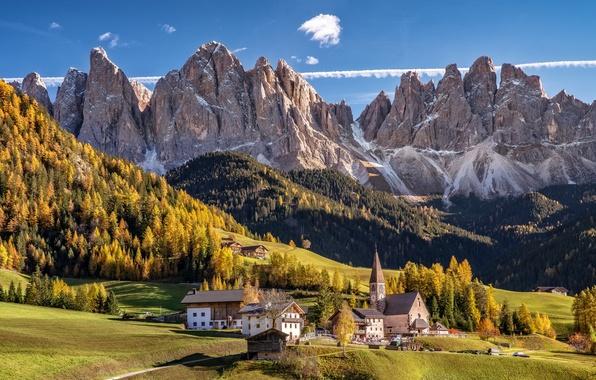 Картинка природа, Autumn, Dolomite Alps
