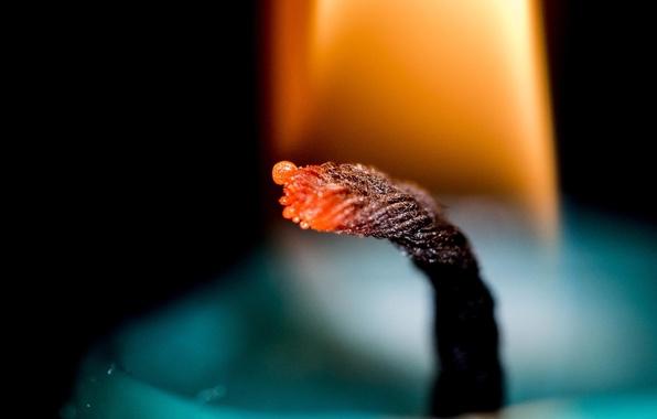 Картинка пламя, свеча, фитиль