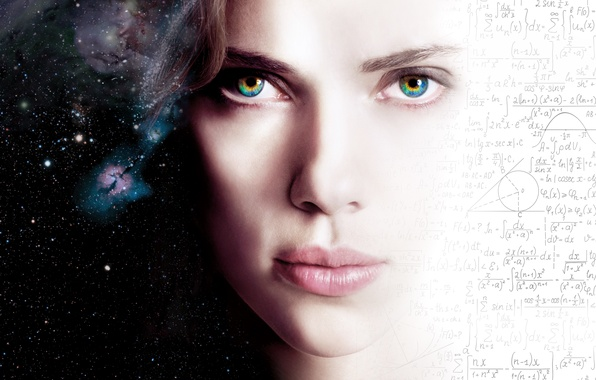 Картинка Scarlett Johansson, Girl, Action, Fantasy, Beautiful, Stars, Space, Wallpaper, Eyes, Face, Lips, Movie, Film, 2014, …
