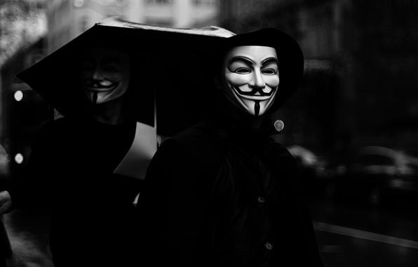 Картинка маска, smiles, anonymous, анонимы