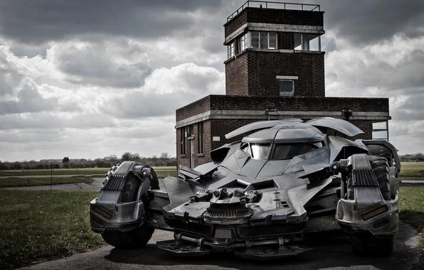 Картинка авто, batman, пулемет, batmobile