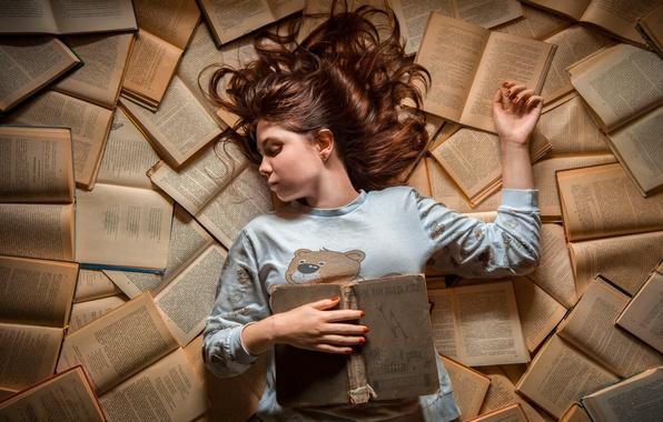 Картинка книги, сон, девочка, Dreams