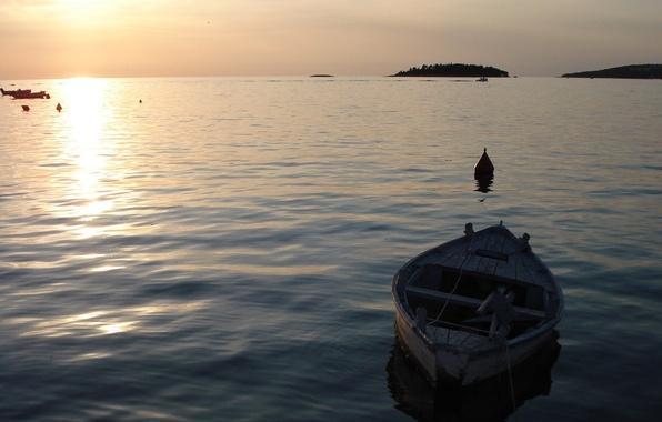 Картинка море, волны, вода, мир, лодка