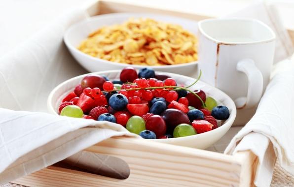 Картинка ягоды, малина, фон, обои, еда, черника, клубника, виноград, кружка, wallpaper, фрукты, смородина, широкоформатные, background, полноэкранные, ...