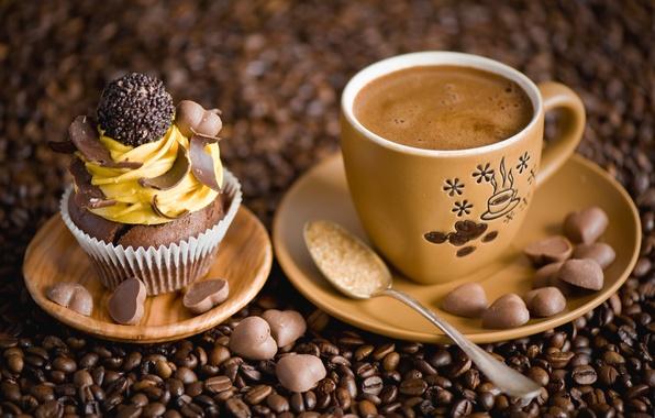 Фото пирожное и кофе