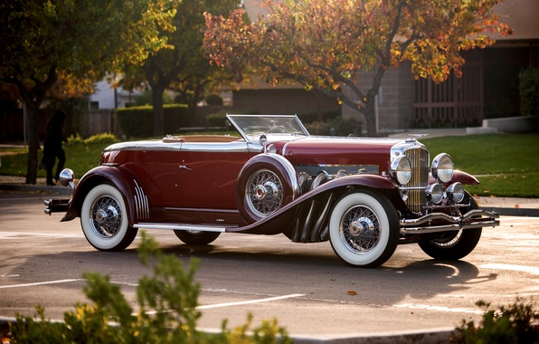 Картинка купе, Coupe, Convertible, Duesenberg, 1929, дюсенберг, откидной верх