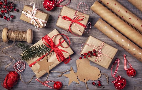 Картинка украшения, Новый Год, Рождество, Christmas, vintage, wood, Xmas, decoration, gifts, Merry