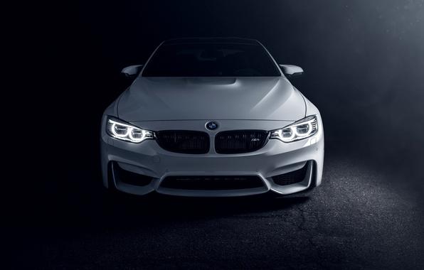 Картинка белый, бмв, BMW, white, Coupe, front, F82, Richard Le