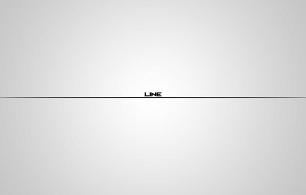 Обои белый, фон, надпись, минимализм, градиент, линия ...