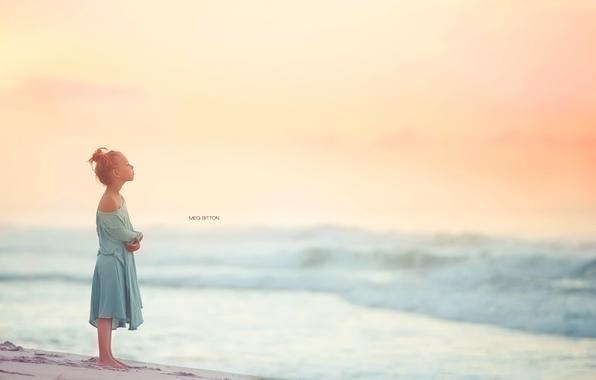 Картинка море, лето, девочка
