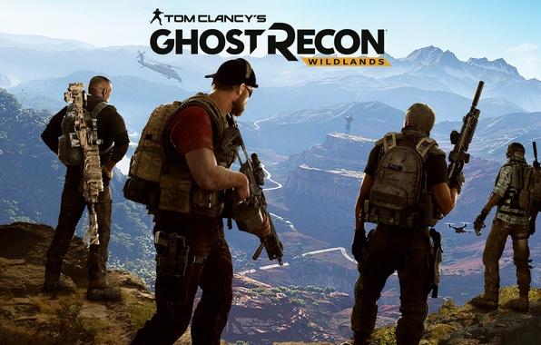 Картинка горы, игра, солдаты, Ubisoft, наемники, Tom Clancy's, Tom Clancy's Ghost Recon Wildlands, Ghost Recon Wildlands