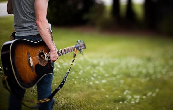 Картинка музыка, гитара, парень