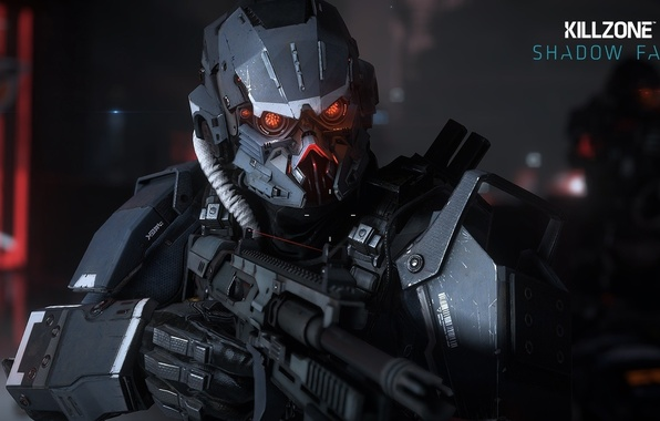 Картинка battlefield, gun, game, Killzone, Sony, soldier, weapon, war, fight, nanosuit, rifle, suit, armour, warrior, helmet, …