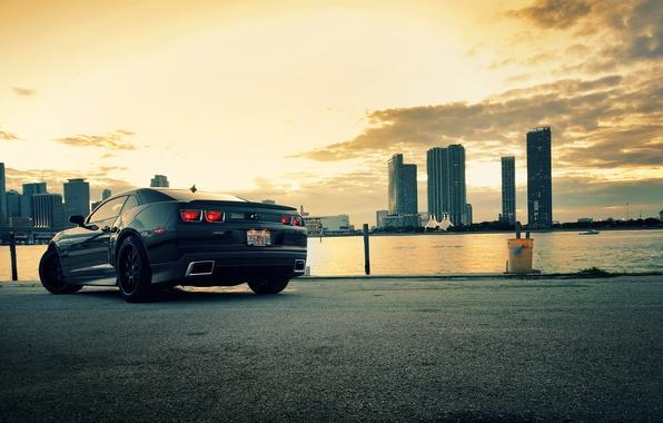 Картинка город, City, camaro, chevrolet, cars, auto