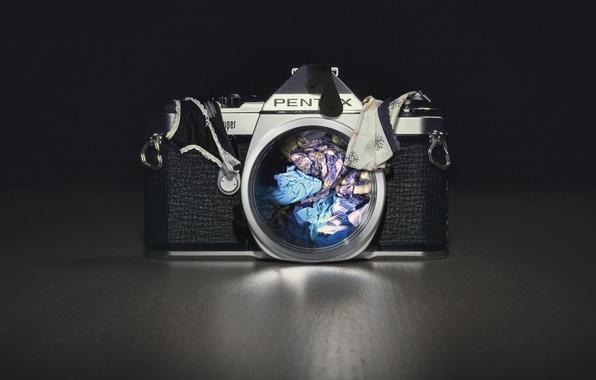 Картинка фон, камера, бельё