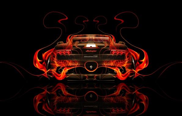 Wallpaper Tony Kokhan, Gallardo, Abstract, Tony Kokhan, Gallardo, Black,  Fire