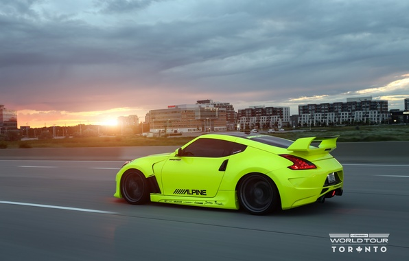 Картинка закат, Nissan, tuning, 370Z