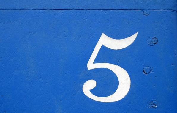 Картинка фон, цифра, Текстура, blue, art, five, cifra, sinee, pyat