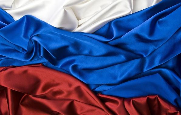 Картинка текстура, флаг, ткань, россия, текстуры, russia