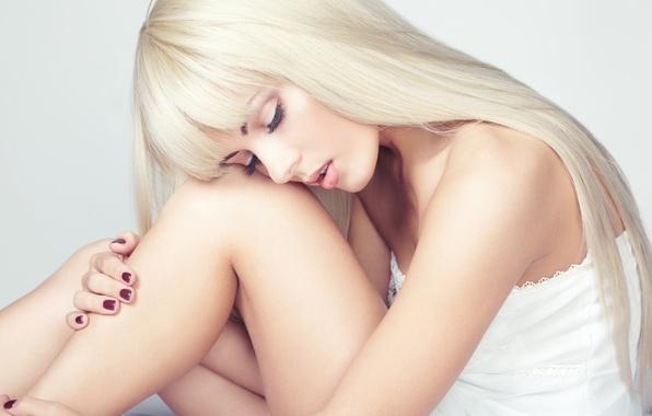 Картинка девушка, макияж, блондинка, girl, маникюр, blonde, manicure, makeup
