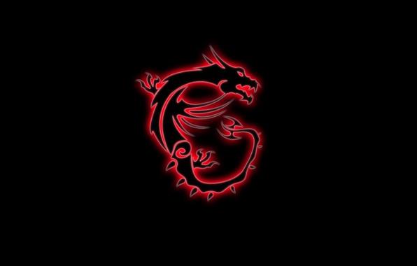 Картинка red, game, black, dragon, gaming, MSI, red dragon, micro star international