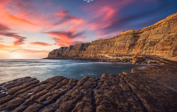Картинка море, небо, рассвет, побережье