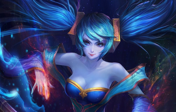 Картинка девушка, art, lol, League of Legends, sona, Maven of the Strings, moba