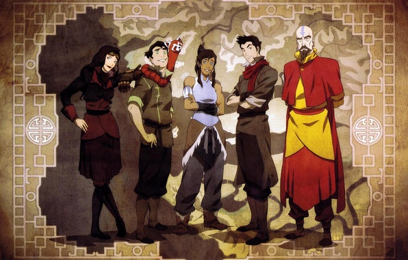 Обои картинки фото the legend of korra аватар