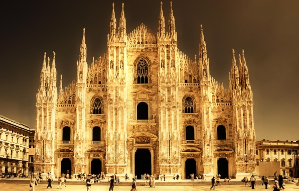 Картинка Италия, собор, Italy, Milano, Миланский