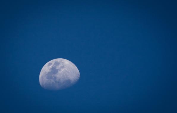 Картинка небо, космос, синий, луна