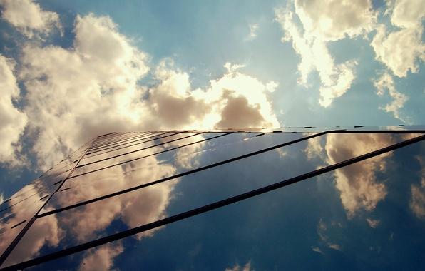 Картинка небо, облака, здание