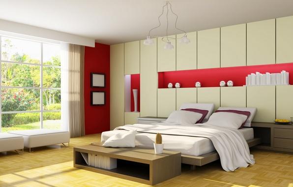 Картинка дизайн, стиль, комната, кровать, еда, интерьер, растения, подушки, кактус, ваза, квартира, желтое. окна