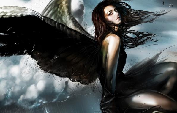 Картинка девушка, фантастика, крылья, ангел, fantasy