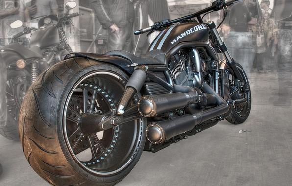Картинка дизайн, стиль, фон, черный, HDR, мотоцикл, форма, байк