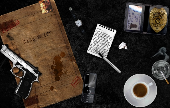 Картинка пистолет, gun, детектив, detective