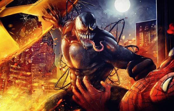 Картинка Marvel, Веном, Venom, Spider man, Человек паук
