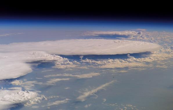 Картинка облака, планета, атмосфера, Земля
