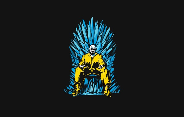 Картинка поза, трон, Breaking Bad, Walter White, Game Of Thrones, Heisenberg