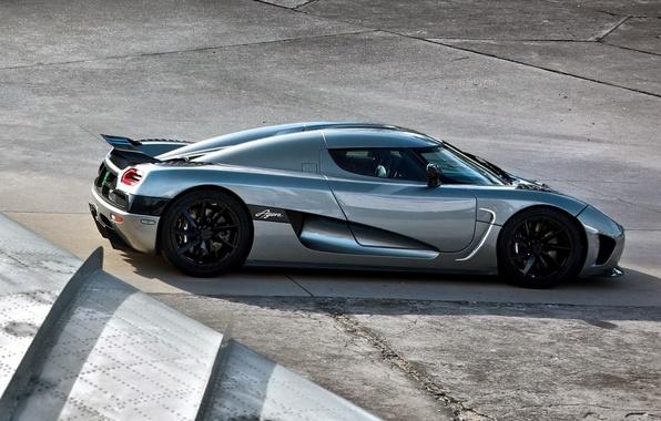 Картинка серый, крыло, Koenigsegg, суперкар, вид сзади, гиперкар, Agera R, Агера Р, Кёнигсегг