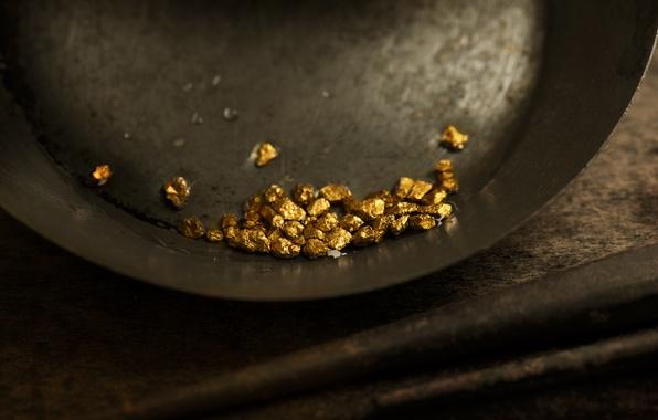Картинка metal, gold, pan, mineral