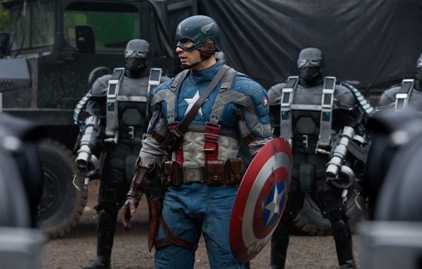 Картинка фильм, щит, The First Avenger, captain america, капитан америка