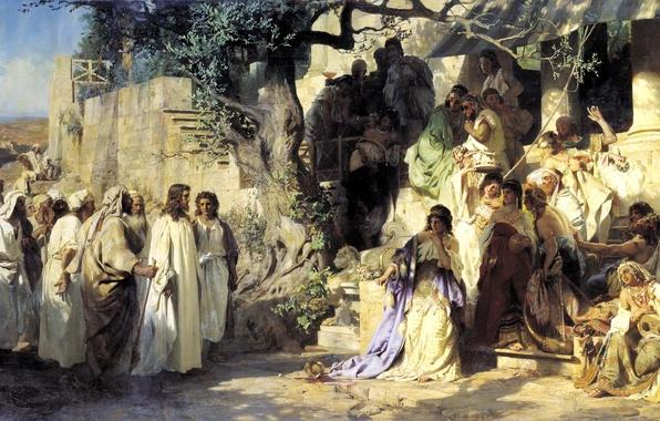 Картинка музыка, люди, девушки, дерево, вино, толпа, масло, картина, тени, грех, белый свет
