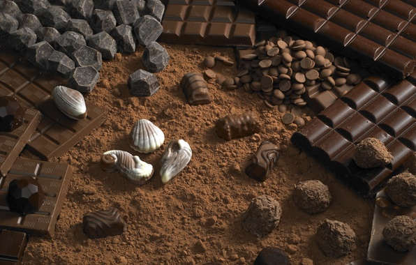 Картинка еда, шоколад, конфеты, десерт, food, 1920x1200, сладкое, chocolate, sweet, какао, dessert, cocoa, candies