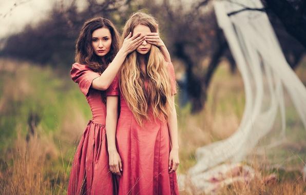 Картинка волосы, две девушки, JOY, Марине Акопян, Виктория Gmira, Евгения Соколова
