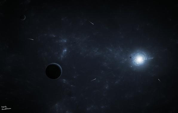 Картинка пространство, планеты, кометы, space, бесконечность
