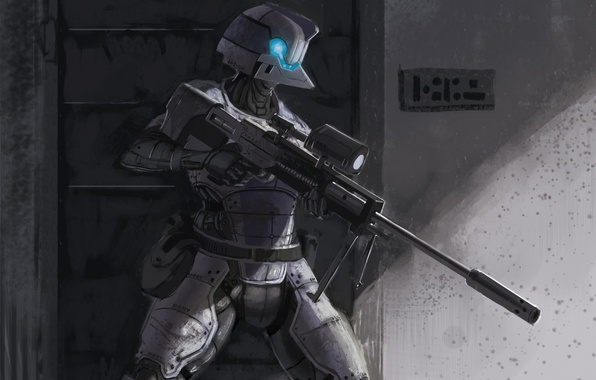 Картинка экипировка, Special, снайперская винтовка, Armor, Heimdall, by CrazyAsian1, Issue