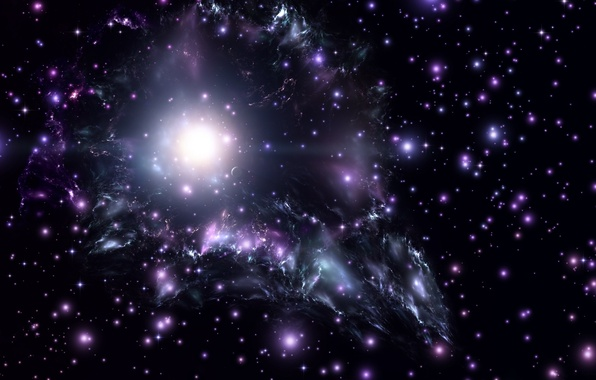 Фото обои космос, звезды, вселенная, невесомость