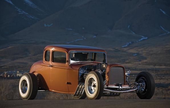 Картинка car, авто, ретро, Ford, Машина, форд, Hot Rod, раритет, Хот-род